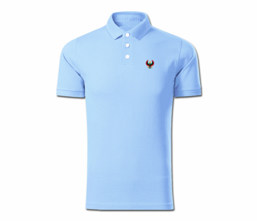 Men Light Blue Heru Collared Shirt