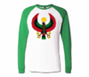 Men White with Green Heru Baseball T-Shirts (Long Sleeve)