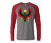 Men Grey with Red Long Sleeve Heru T-Shirt