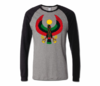 Men Grey and Black Heru Baseball T-Shirts (Long Sleeve)