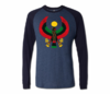 Men Navy with Midnight Blue Long Sleeve Heru T-Shirt