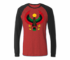 Men Heather Red with Grey Heru Baseball T-Shirts (Long Sleeve)