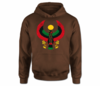 Men Dark Chocolate Heru Hoodie