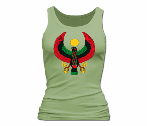 Women Moss Green Heru Tank Top