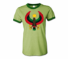 Women Army green with Dark Green Trim Heru T-Shirt