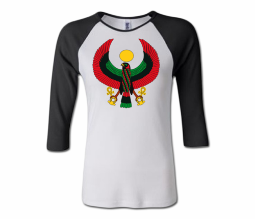 Women White and Black Heru Baseball T-Shirt