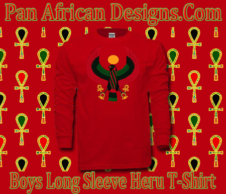 Boys Red Heru Long Sleeve T-Shirt
