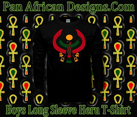 Boys Black Heru Long Sleeve T-Shirt