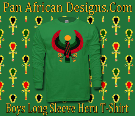Boys Irish Green Heru Long Sleeve T-Shirt