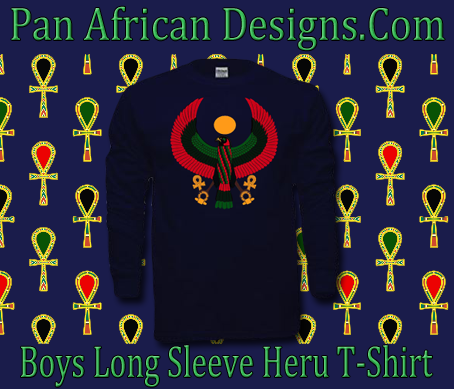 Boys Navy Blue Heru Long Sleeve T-Shirt