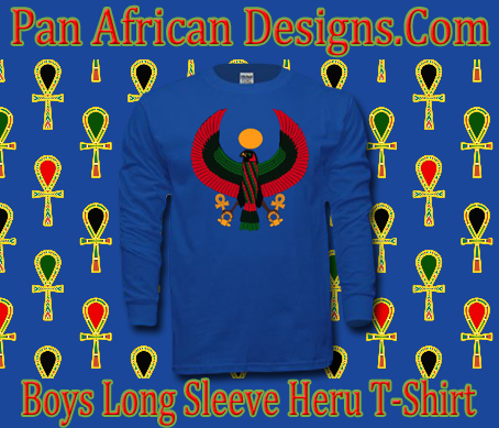 Boys Royal Blue Heru Long Sleeve T-Shirt