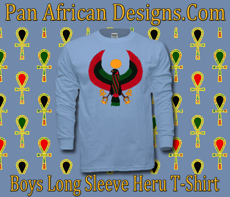 Boys Light Blue Heru Long Sleeve T-Shirt