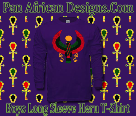 Boys Purple Heru Long Sleeve T-Shirt