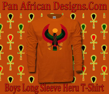 Boys Orange Heru Long Sleeve T-Shirt