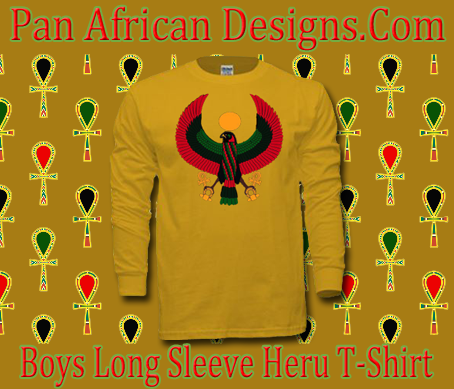 Boys Gold Heru Long Sleeve T-Shirt