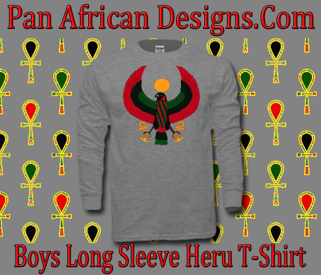 Boys Sports Grey Heru Long Sleeve T-Shirt