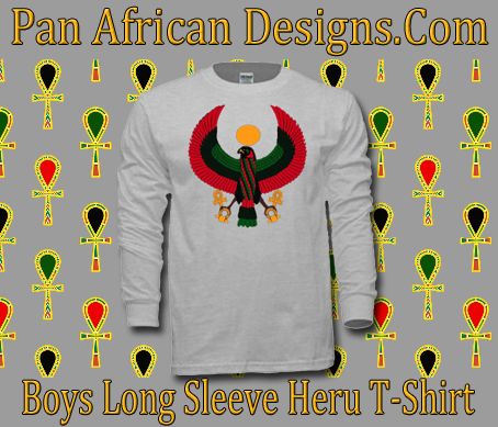 Boys Ash Grey Heru Long Sleeve T-Shirt