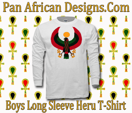 Boys White Heru Long Sleeve T-Shirt