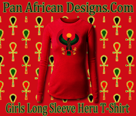 Girls Red Long Sleeve Heru T-Shirt