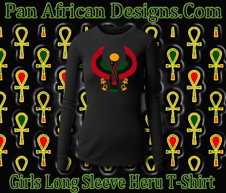Girls Black Long Sleeve Heru T-Shirt