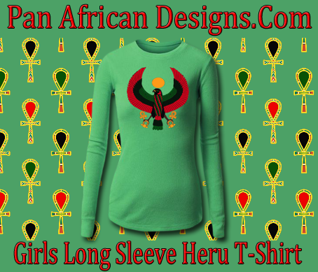Girls Kelly Green Long Sleeve Heru T-Shirt