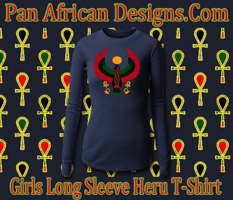 Girls Navy Blue Long Sleeve Heru T-Shirt