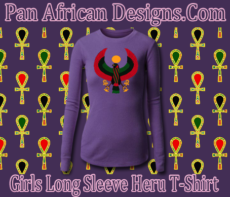 Girls Purple Long Sleeve Heru T-Shirt