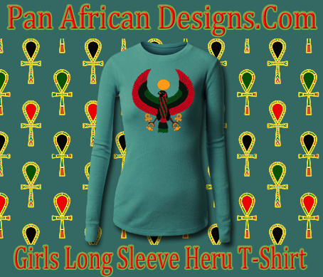 Girls Teal Long Sleeve Heru T-Shirt