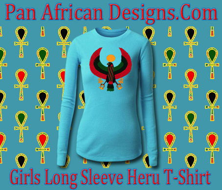 Girls Turquoise Long Sleeve Heru T-Shirt