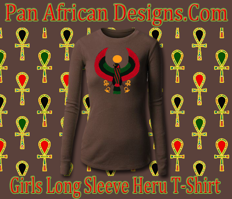 Girls Chocolate Long Sleeve Heru T-Shirt