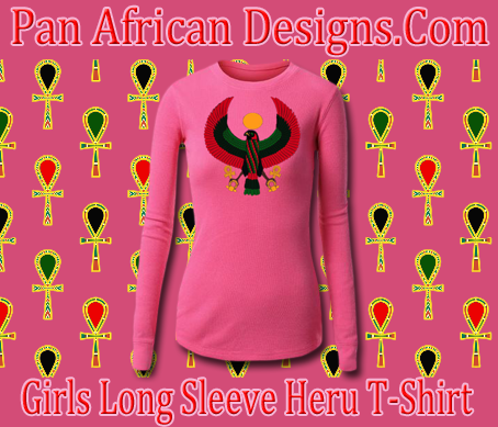 Girls Hot Pink Long Sleeve Heru T-Shirt