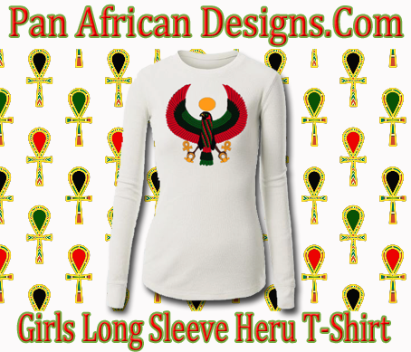Girls White Long Sleeve Heru T-Shirt