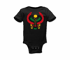 Infant Black Large Print Heru Onesie