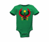 Infant Kelly Green Large Print Heru Onesie