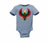 Infant Baby Blue Print Heru Onesie