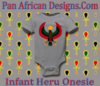 Infant Heather Grey Large Print Heru Onesie