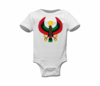 Infant White Large Print Heru Onesie