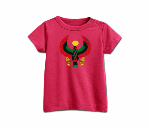 Infant raspberry Heru T-Shirt