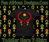 Toddler Black Heru T-Shirt