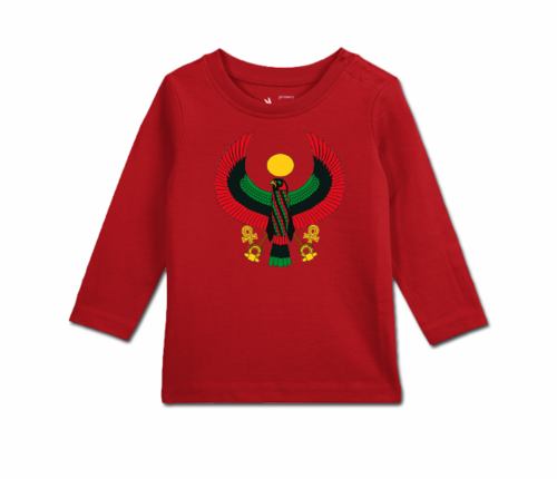 Toddler Cherry Red Long Sleeve Heru T-Shirt