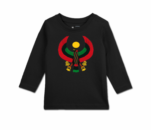 Toddler Black Long Sleeve Heru T-Shirt