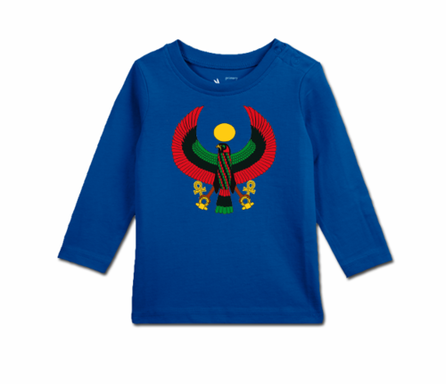 Toddler Colbalt Blue Long Sleeve Heru T-Shirt