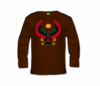 Toddler Brown Long Sleeve Heru T-Shirt