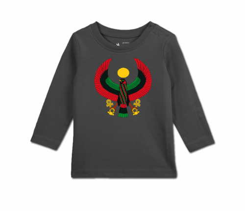 Toddler Slate Grey Long Sleeve Heru T-Shirt