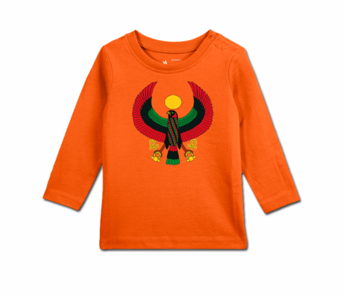 Toddler Tangerine Long Sleeve Heru T-Shirt