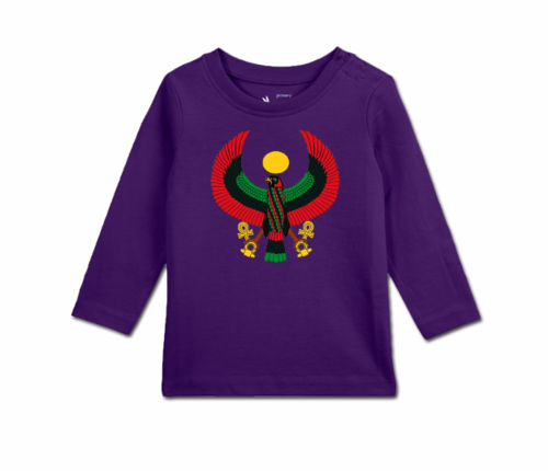 Toddler Grape Long Sleeve Heru T-Shirt