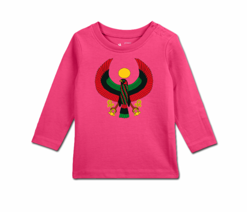 Toddler Raspberry Long Sleeve Heru T-Shirt