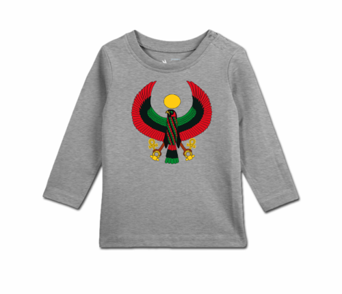 Toddler Heather Grey Long Sleeve Heru T-Shirt