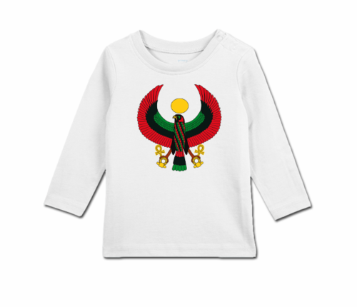 Toddler White Long Sleeve Heru T-Shirt