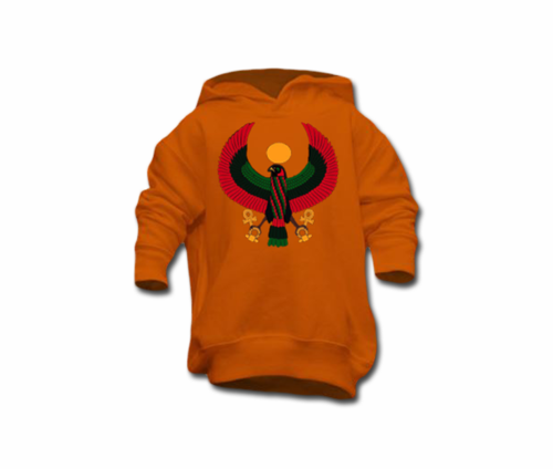 Toddler Orange Heru Pullover Hoodie